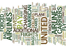 Fly The Unfriendly Skies Of United Text Background  Word Cloud Concept Stock Images