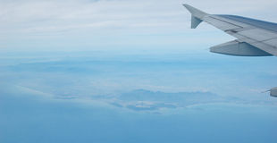 Free Fly Upon The Blue Land And Sea Stock Images - 16616644