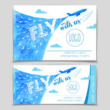 Fly with us. Airline flyer design Royalty Free Stock Images