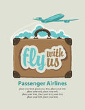 Fly with us Stock Photography