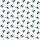 Fly vector seamless pattern for textile design, wallpaper, wrapping paper vector illustration