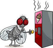Fly and vending machine cartoon Stock Photography
