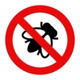 Fly warning sign Stock Image
