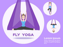 Fly yoga  Stock Images