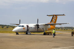 Fly540 samolot Zdjęcie Royalty Free