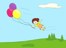 Flyaway balloons Stock Photo