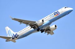 Flybe air line companies elevation maniobre Stock Images