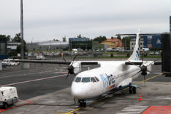 FlyBe Dash 8 Royalty Free Stock Photography
