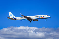 Flybe Embraer E-195 Royalty Free Stock Images