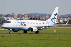 Flybe Embraer ERJ175 Стоковые Изображения RF
