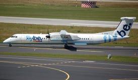 Flybe Flugzeuge entfernen sich Stockfotografie