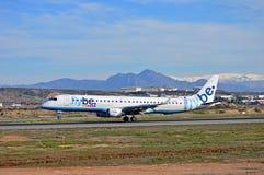 Flybe Passenger Plane Landing Royalty Free Stock Photos