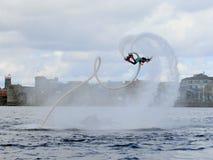Flyboard世界冠军 免版税库存图片