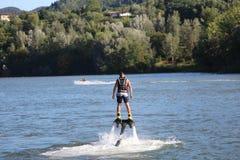 Flyboard - πετώντας βάρκες Στοκ Εικόνα