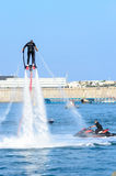 Flyboard Photo libre de droits