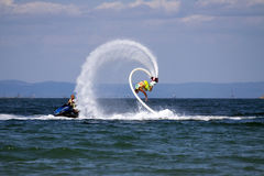 Flyboard Black sea adventure. Royalty Free Stock Photography