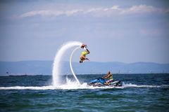 Flyboard Black sea adventure. Stock Image