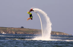 Flyboard Black sea adventure. Royalty Free Stock Photos