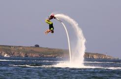 Flyboard Black sea adventure. Royalty Free Stock Photos