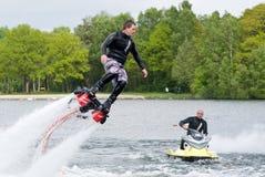Flyboard-Demonstration Lizenzfreies Stockbild