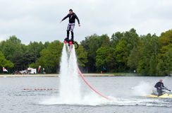 Flyboard demonstration Stock Images