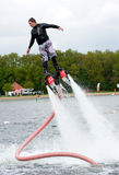 Flyboard demonstration Royalty Free Stock Photography