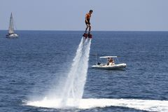 Flyboard In Alicante Royalty Free Stock Photos