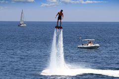 Flyboard In Alicante Royalty Free Stock Images