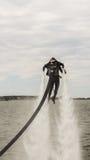 Flyboard konstflygning Fotografering för Bildbyråer