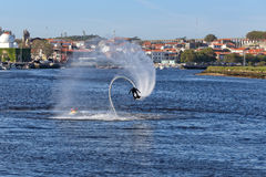 Flyboard training Stock Image