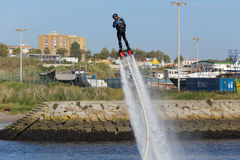 Flyboard training Stock Photos