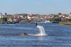 Flyboard training Royalty Free Stock Image