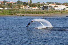 Flyboard training Stock Photo