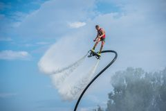 Flyboarding. Flyboard. Royalty Free Stock Photography
