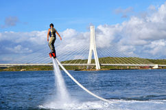 Flyboarding Images libres de droits