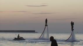 Flyboarding-Festival auf der Ufergegend - im August 2016, Sewastopol, Krim stock footage