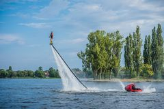 Flyboarding Flyboard stockfotos