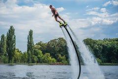 Flyboarding Flyboard fotografering för bildbyråer