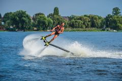 Flyboarding. Flyboard. royalty free stock images