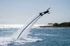 Flyboarding. Flyborading at jan Thiel beach Curacao Stock Photography