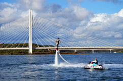 Flyboarding fun Stock Photography