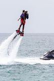 Flyboarding in Panama Royalty Free Stock Image