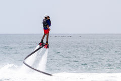 Flyboarding in Panama Royalty Free Stock Photography
