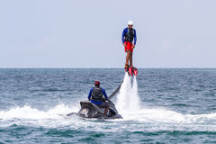 Flyboarding in Panama Stock Image