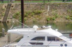 Flybridge, Yacht, Motorboat, Boat Stock Images