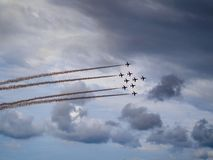 Red Arrows at the Scottish Airshow 2018 stock photos