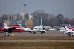 Flydubai波音737 (7000th波音737) 库存照片