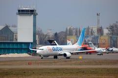 Flydubai波音737 (7000th波音737) 免版税图库摄影