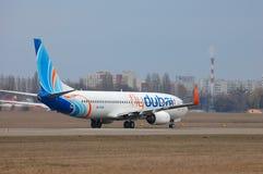 Flydubai波音737 (7000th波音737) 免版税库存照片