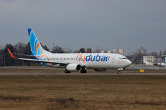 Flydubai波音737 (7000th波音737) 库存图片